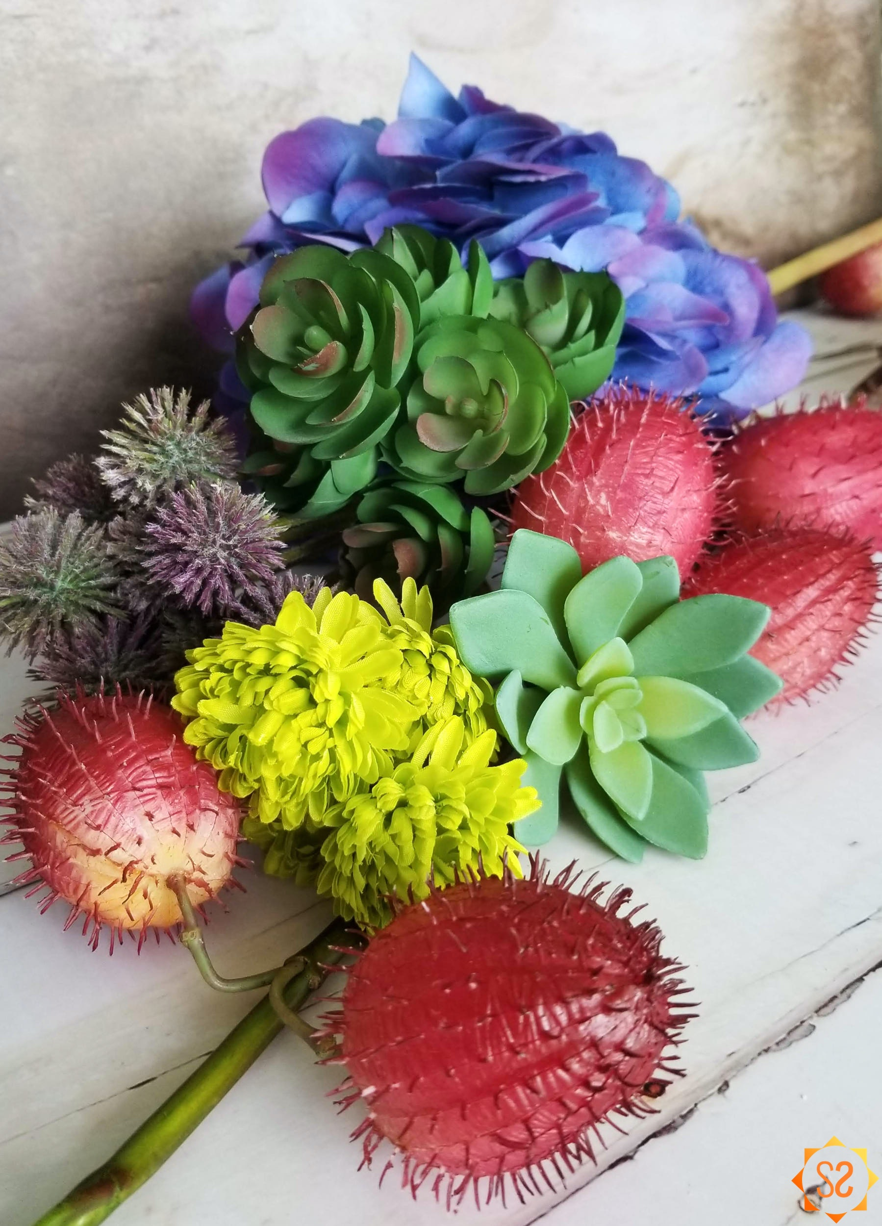 An assortment of exotic flowers