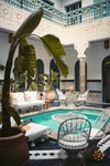 Moroccan riad with swimming pool