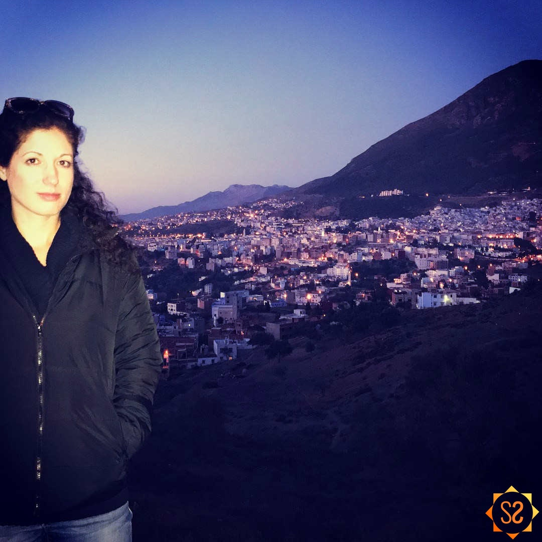 Steph in Chefchaouen