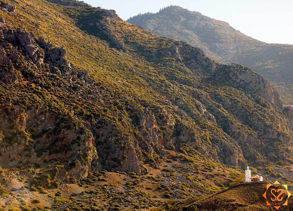 A grassy mountain in Morocco